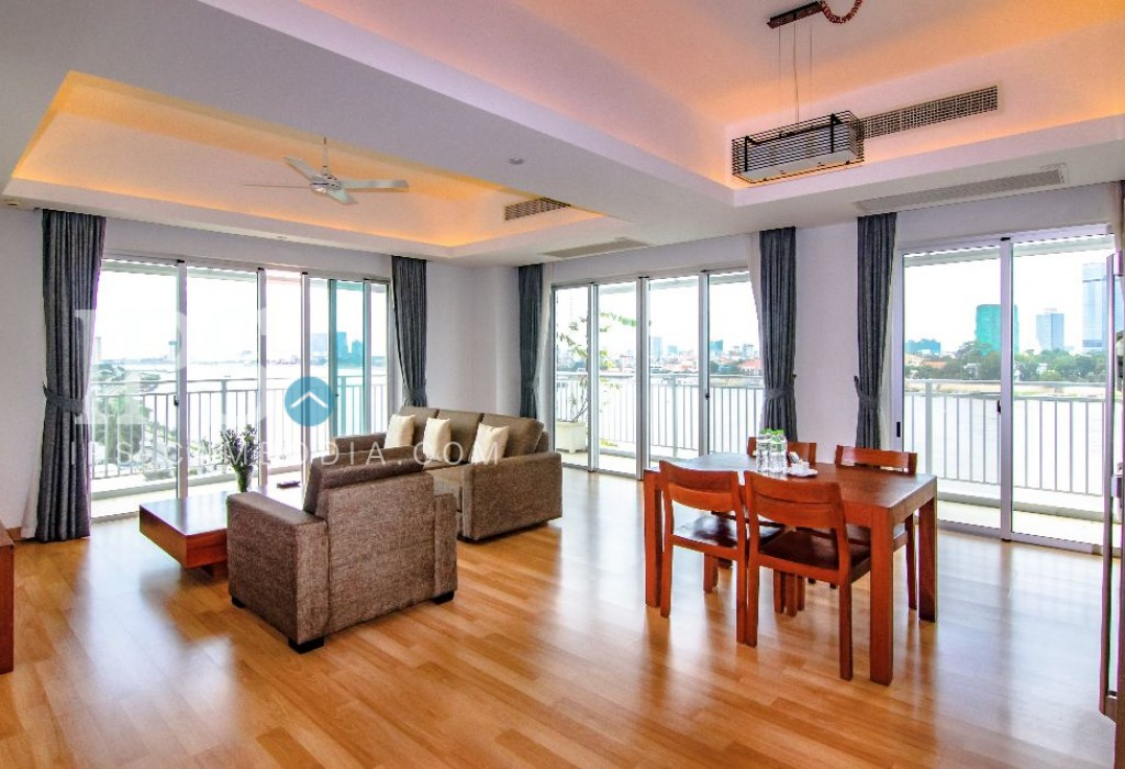Chroy Changvar Serviced Apartment for Rent - 2 Bedrooms