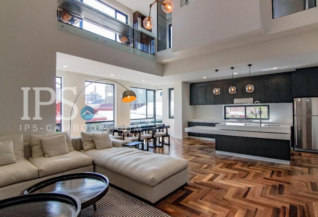 Duplex 3 Bedroom Apartment for Rent - Tonle Bassac, Phnom Penh