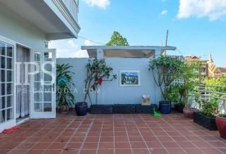 Huge Terrace Apartment For Rent Tonle Bassac - 3 Bedrooms