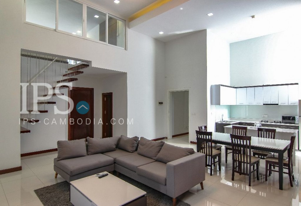 Tonle Bassac  Duplex Apartment for Rent - 2 Bedrooms