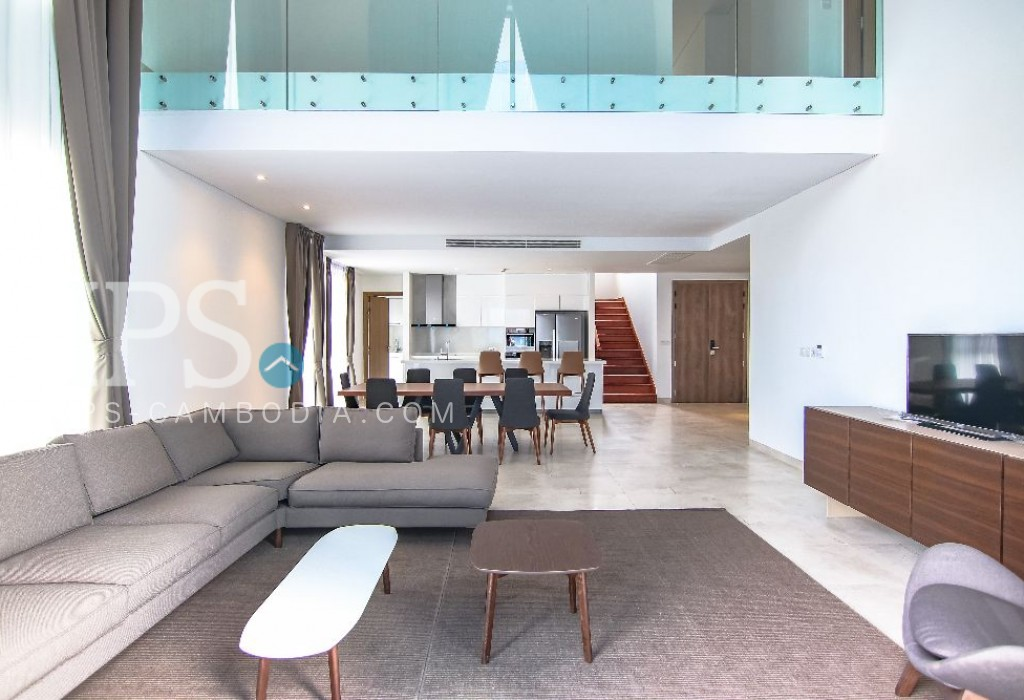 Duplex 4 Bedroom Penthouse For Sale - Tonle Bassac, Phnom Penh