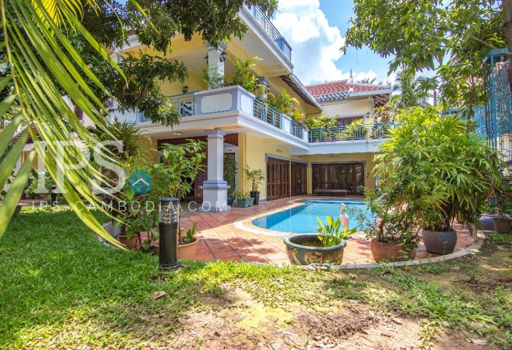 6 Bedroom Commercial  Villa For Rent  - Tonle Bassac , Phnom Penh