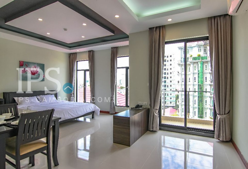 Studio Flat For Rent - Phsar Daeum Thkov, Phnom Penh