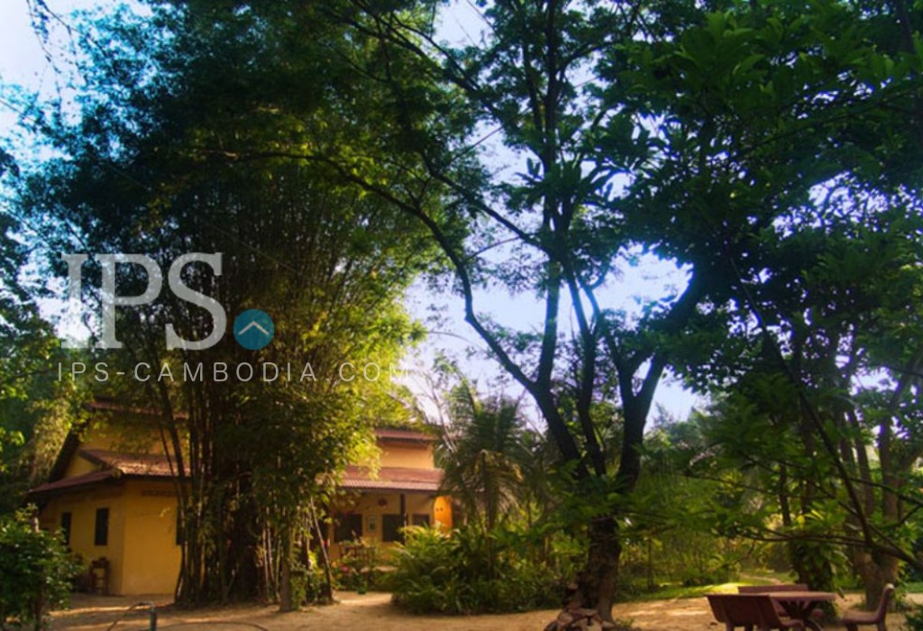 * Land selling at low price * Huge landscaped property with western-built villas and bungalows