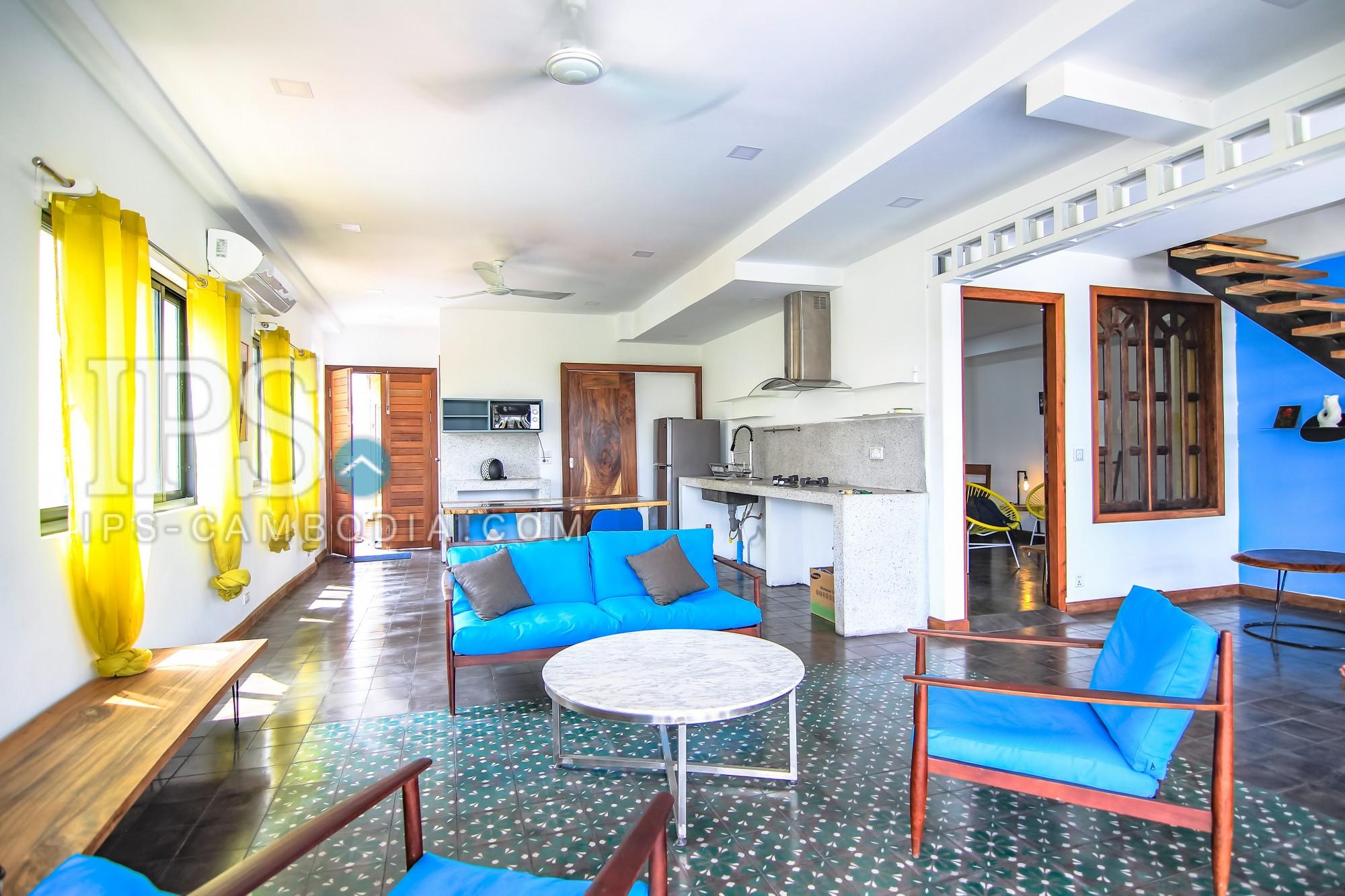 2 Bedroom Renovated Flat for Rent - Daun Penh