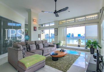 2 Bedroom & 1 Office Renovated Flat For Sale - Riverside, Phnom Penh