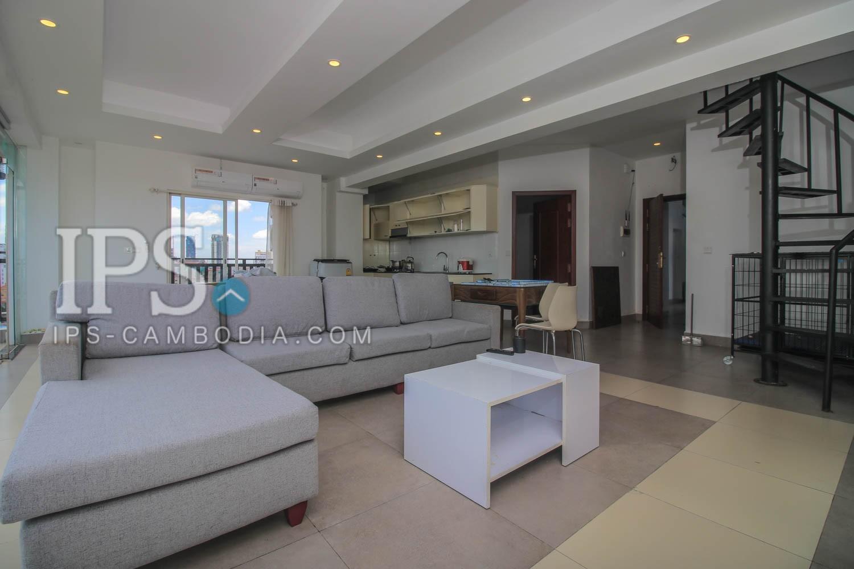 3 Bedroom Duplex Apartment For Rent - BKK3, Phnom Penh