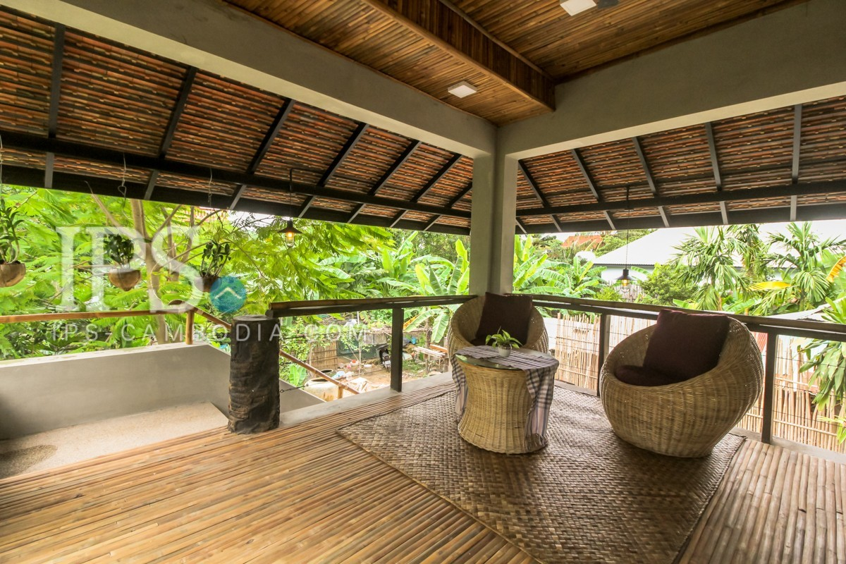 3 Bedrooms Modern Concrete Villa For Rent - Sala Kamreuk, Siem Reap