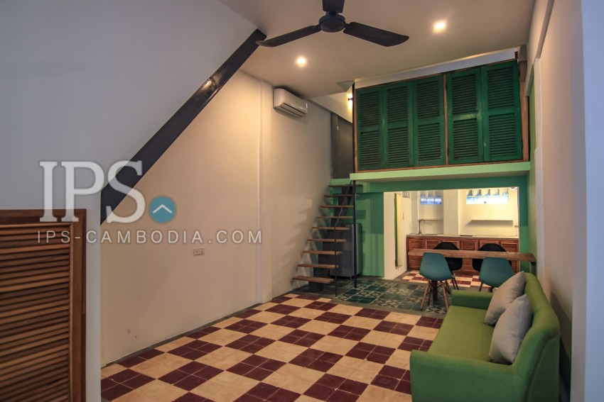 1 Bedroom Mezzanine Floor Apartment for Rent - Daun Penh