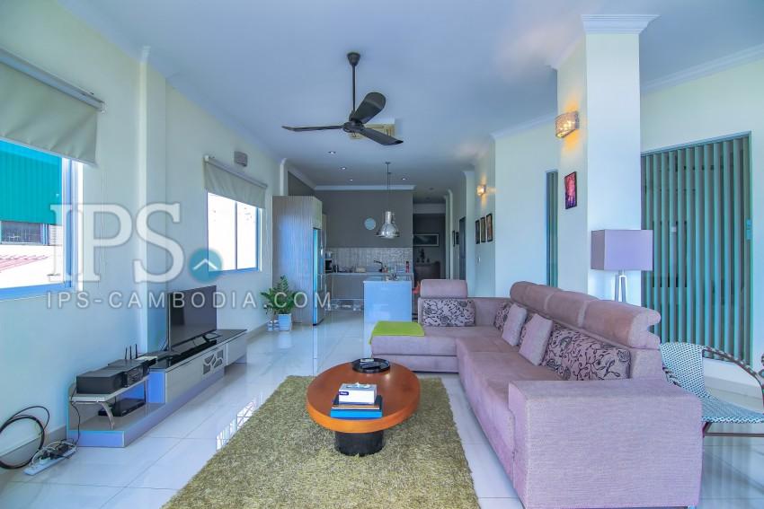 2 Bedroom & 1 Office Renovated Flat For Sale - Riverside, Phnom Penh