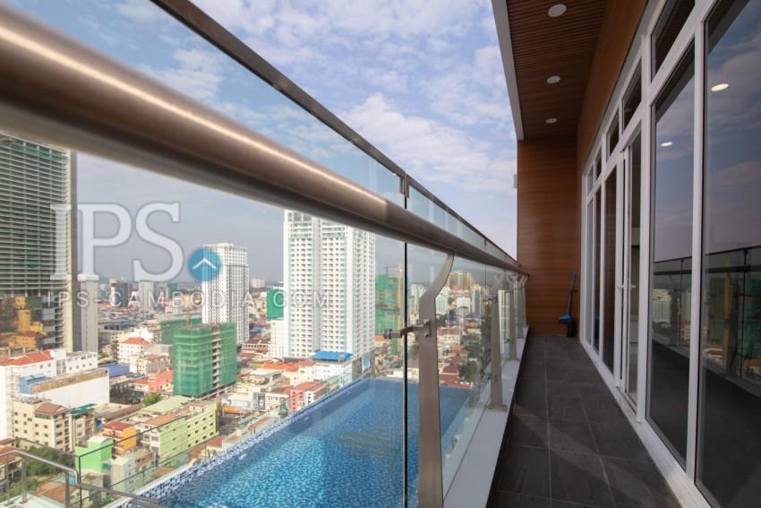 3 Bedroom Penthouse For Rent - BKK2, Phnom Penh