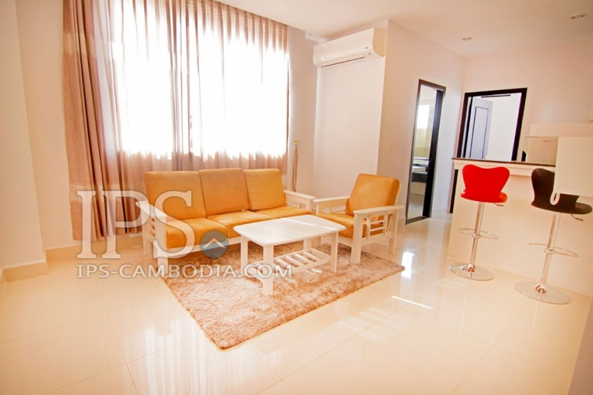 Service Apartment For Rent - One Bedroom in Chroy Chongva