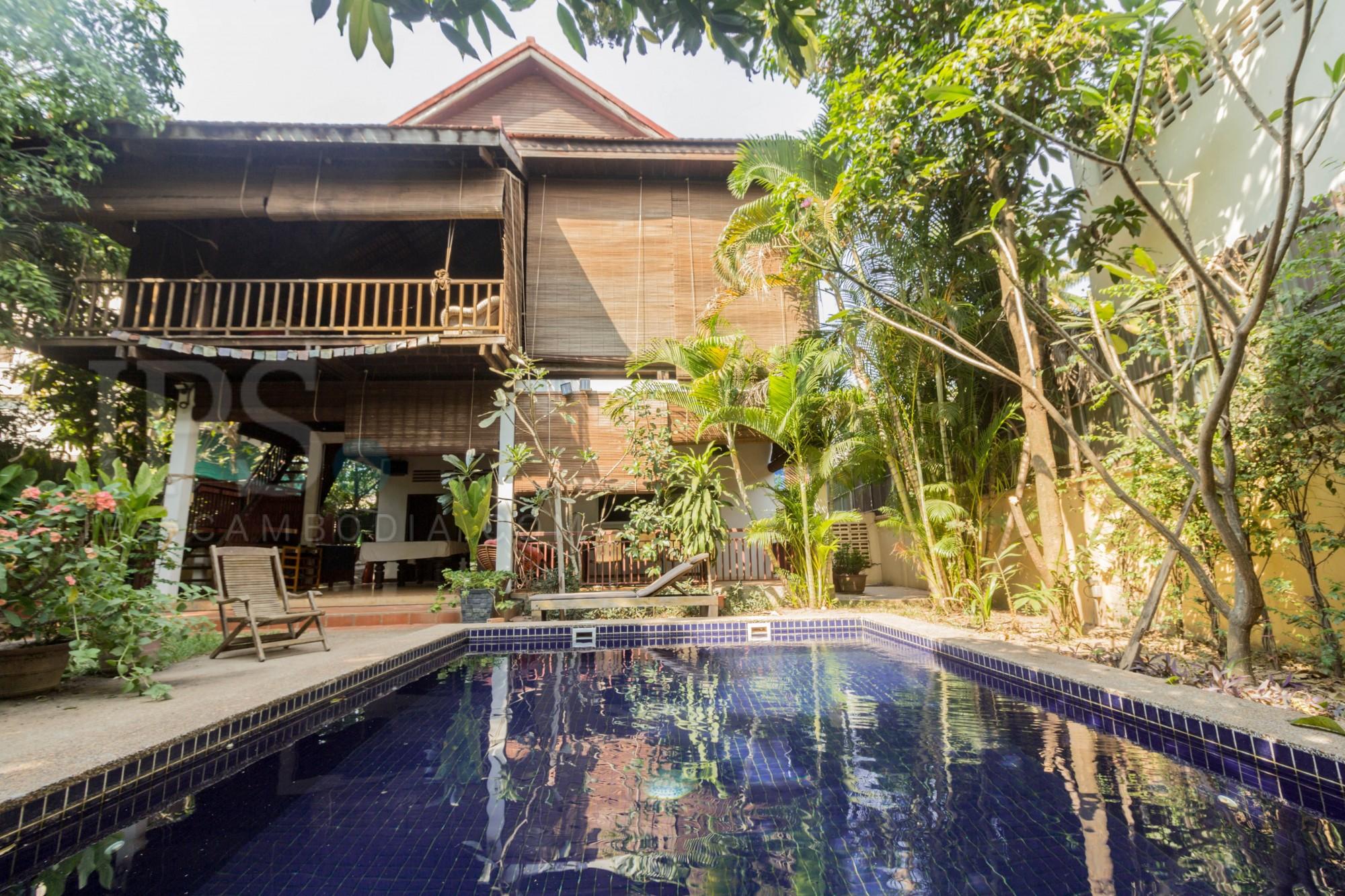 4 Bedroom Wooden Villa For Rent - Wat Damnak, Siem Reap