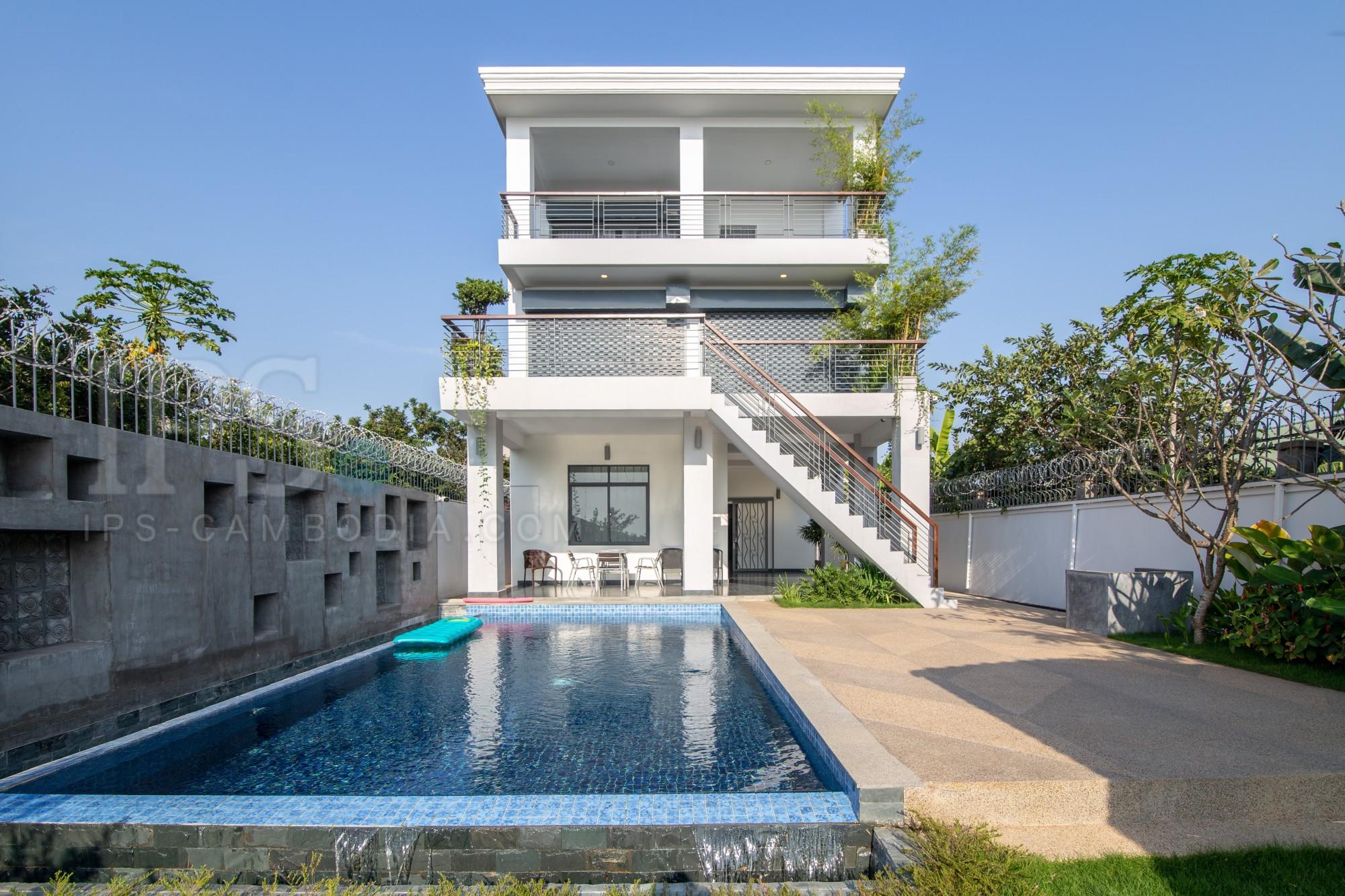 5 Bedroom Villa For Rent - Preak Thmei, Chbar Ampov, Phnom Penh