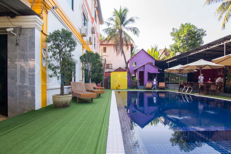 Bar/Restaurant with 16 Bedroom Hotel Business  For Sale - Wat Damnak, Siem Reap
