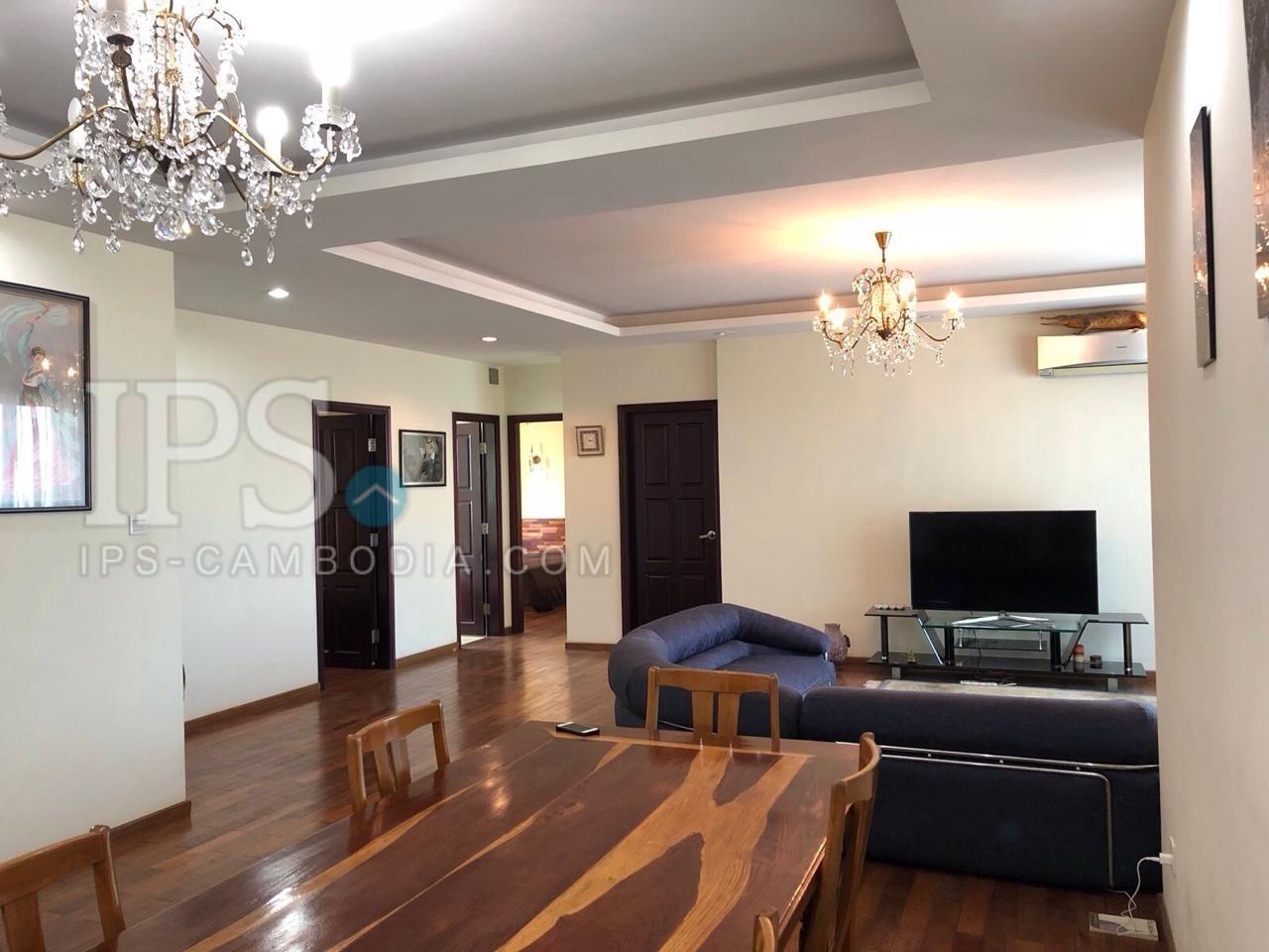 3 Bedroom  Apartment  For Rent - Tonle Bassac, Phnom Penh