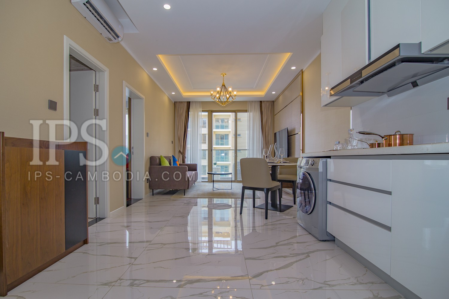 1 Bedroom plus 1 Studyroom Apartment For Rent -  Srah Chork, Phnom Penh