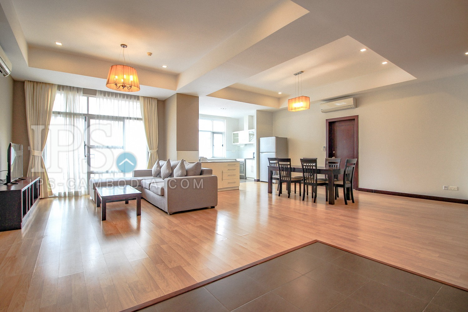 3 Bedroom Serviced Apartment For Rent - Tonle Bassac, Phnom Penh