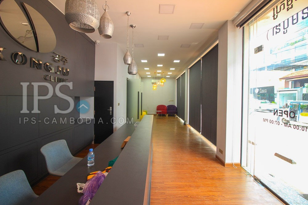 540 Sqm Commercial Office/Retail Space For Rent - BKK1, Phnom Penh