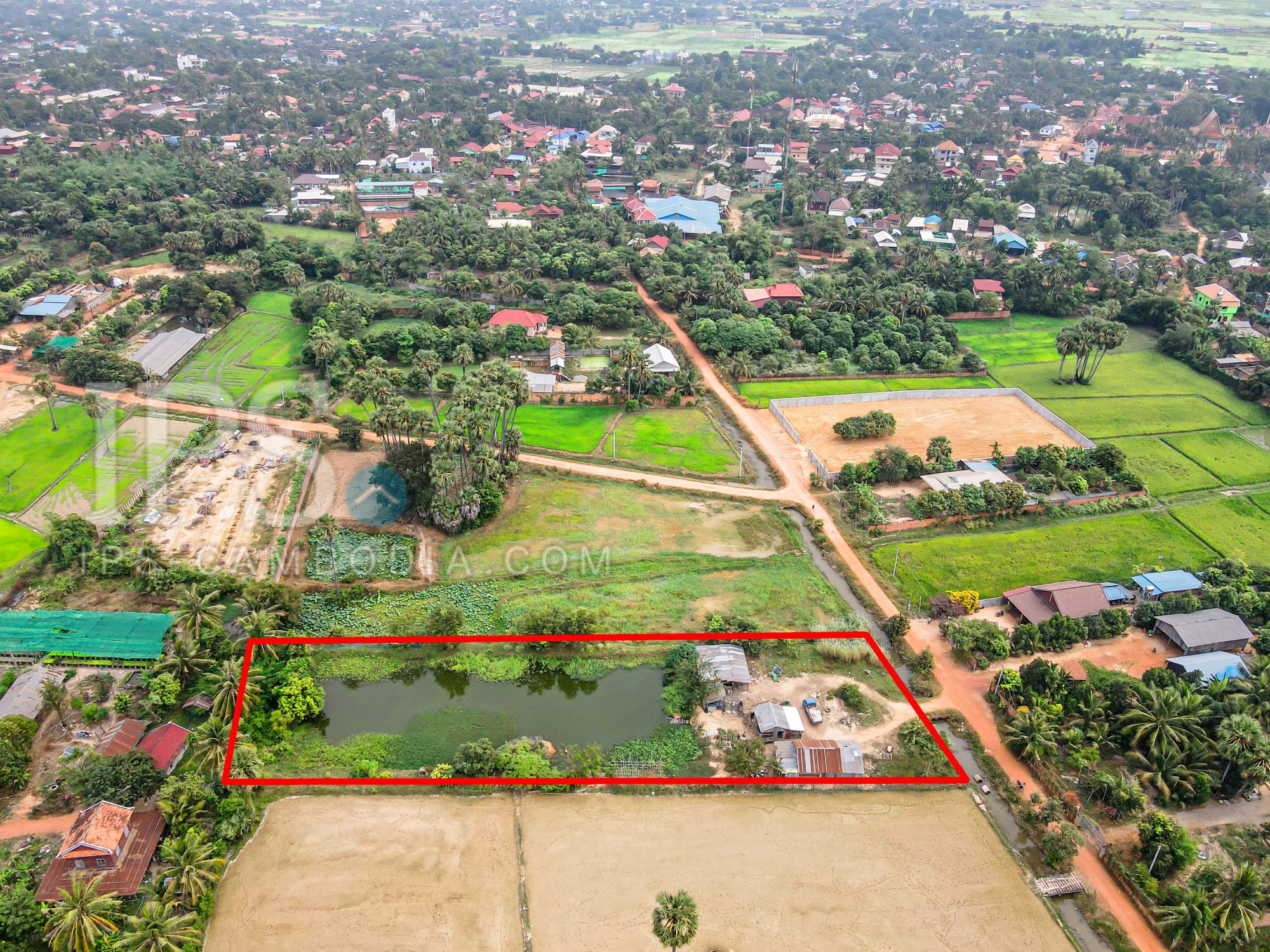 3444 Sqm Land For Sale - Wat Athvea, Siem Reap