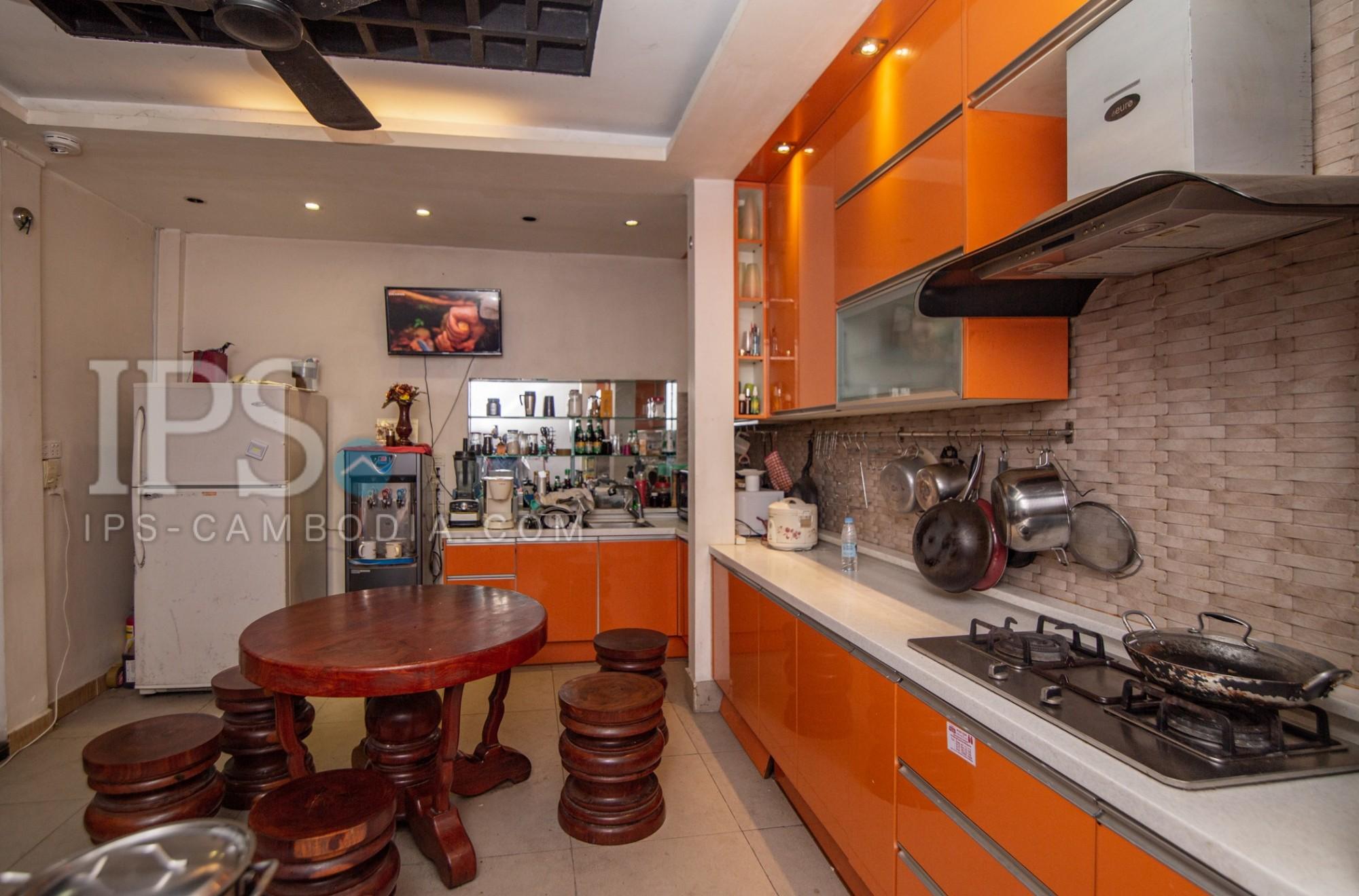 5 Bedroom Townhouse For Rent - Toul Svay Prey 1, Phnom Penh