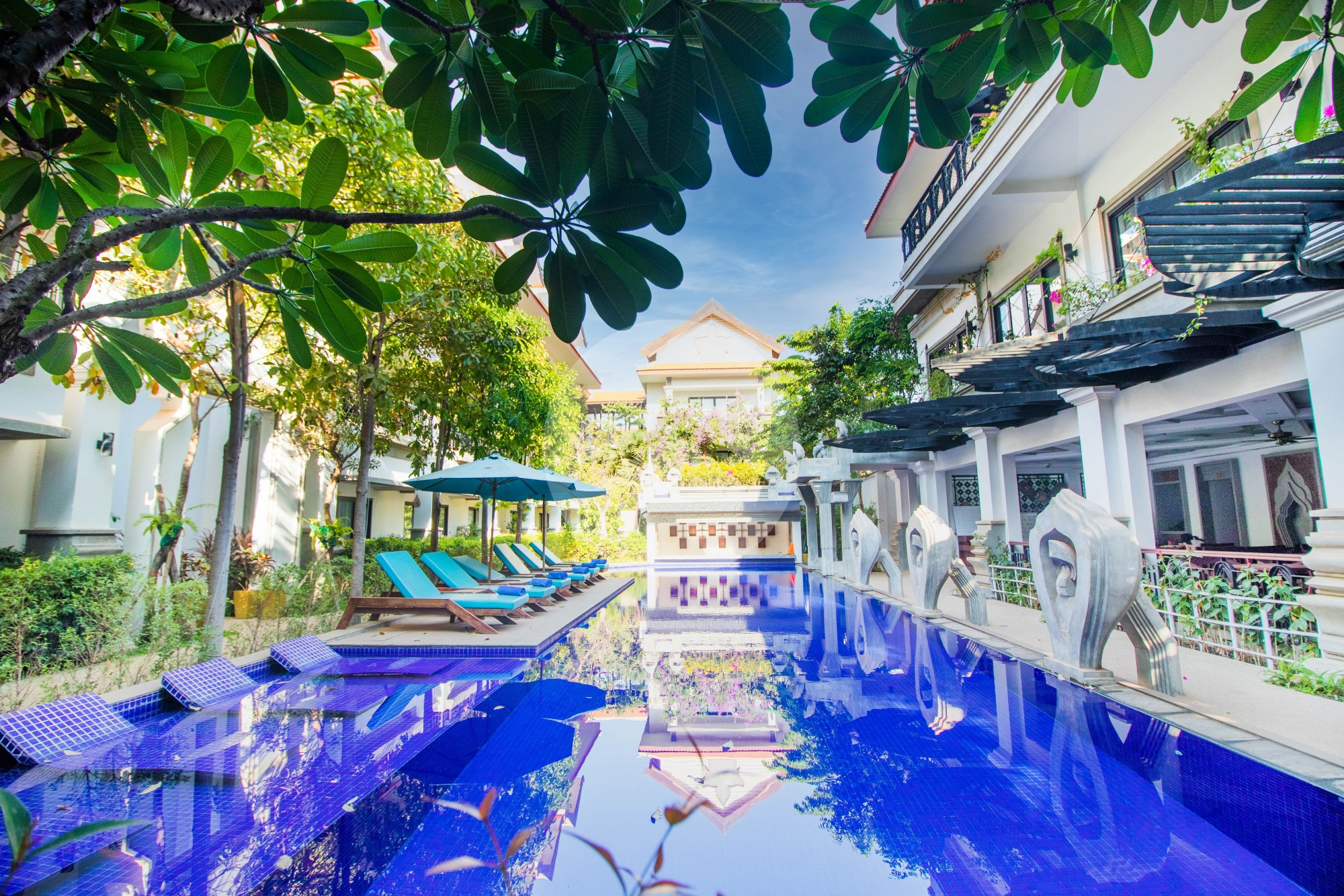 Serviced Apartment With 3 Bed Family Suite For Rent - Svay Dangkum, Siem Reap