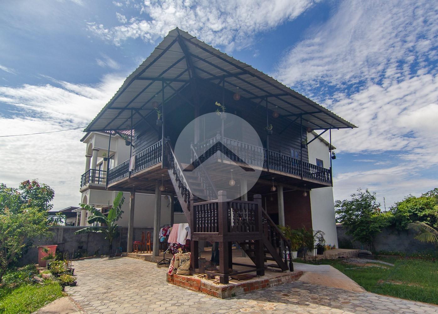 3 Bedroom Wooden House For Rent - Chreav, Siem Reap