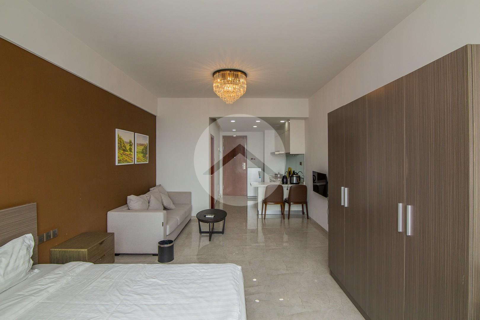 38 Sqm Studio Condo For Rent - East One, Phnom Penh