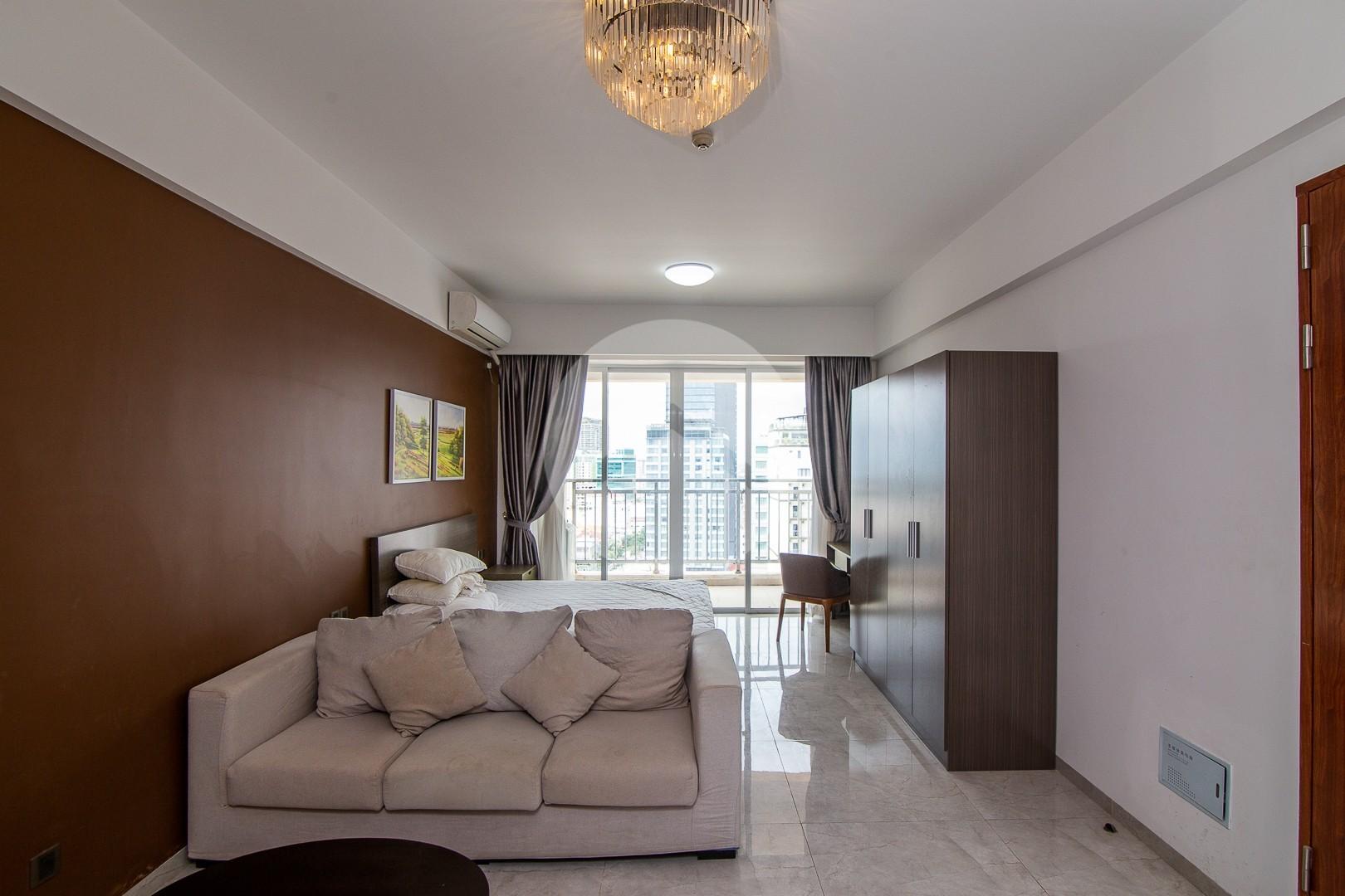 45 Sqm Studio Condo For Rent - Beoung Riang, Phnom Penh