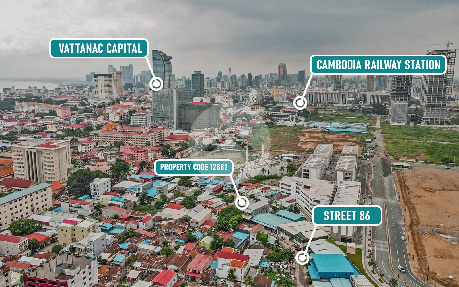 288 Sqm Land For Sale - Daun Penh, Phnom Penh