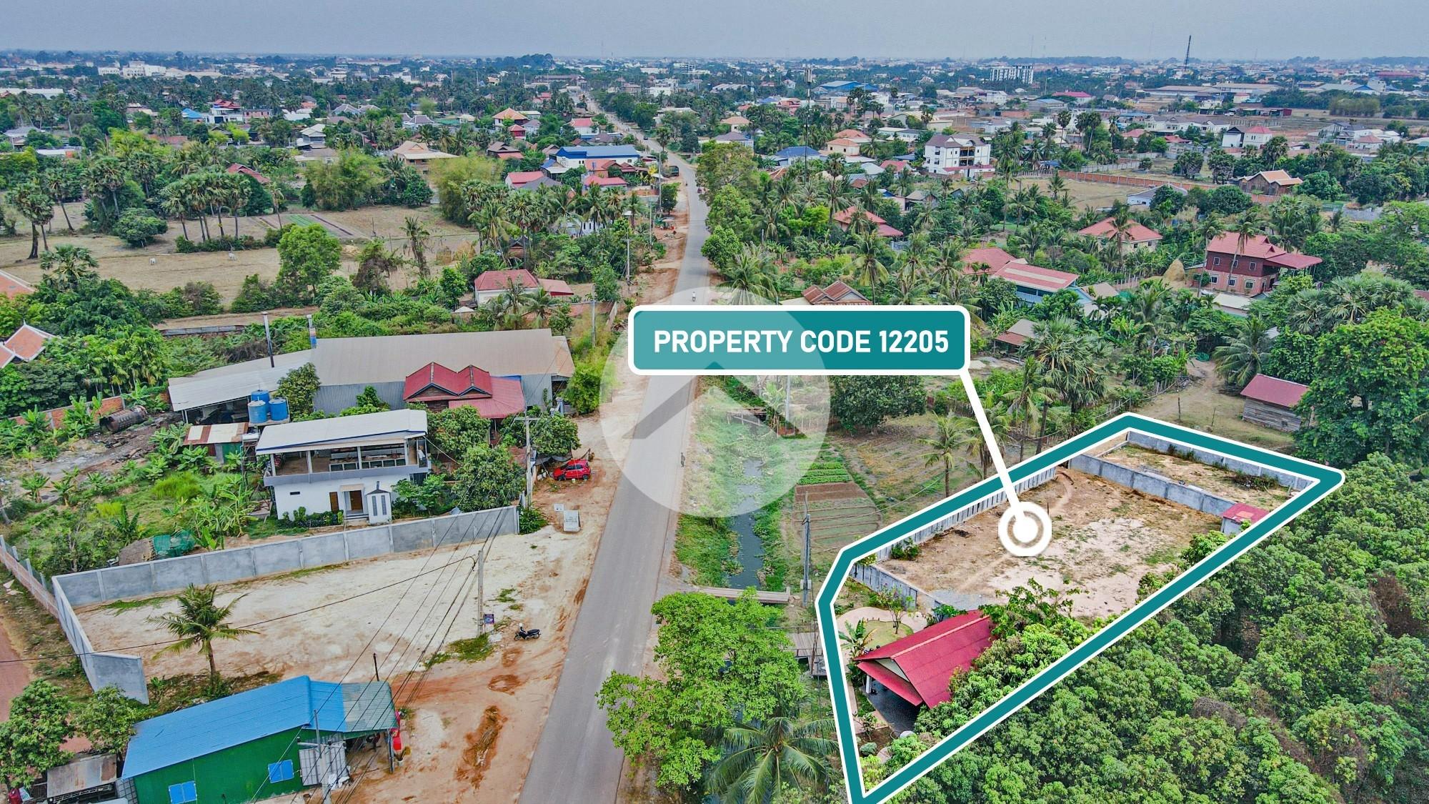 1096 Sqm Residential Land For Sale - Chreav, Siem Reap