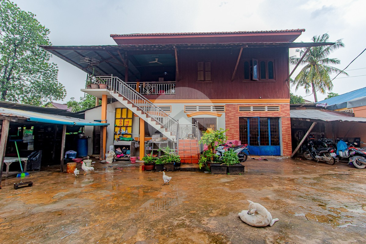 480 Sqm Commercial Land Wit House For Sale - Svay Dangkum, Siem Reap