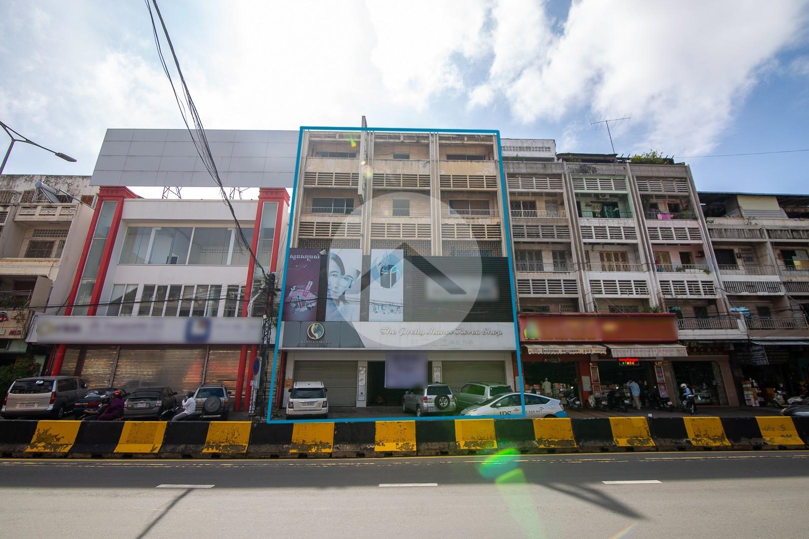 465 Sqm Commercial Building For Rent - Orussey 3, Phnom Penh